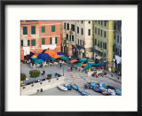 Elevated View of Outdoor Cafe and Surrounding Buildings  Vernazza  Italy