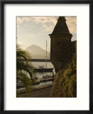 Harbour with Volcanic Island of Pico Beyond  Horta  Faial Island  Azores  Portugal