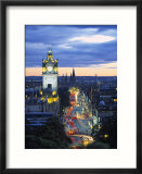 Princes St  Calton Hill  Edinburgh  Scotland
