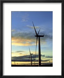 Wind Turbines at Sunset  Caithness  Scotland
