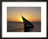 Sunset on a Felucca Fishing Boat  Tunisia