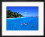 Snorkelling At One Foot Island  Aitutaki Lagoon  Cook Islands
