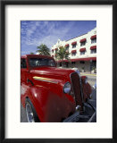 Ocean Drive with Classic Hot Rod  South Beach  Miami  Florida  USA