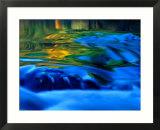 Reflections in Fall  Canton Creek near North Umpquah  Oregon  USA