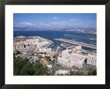 View Over Airport and Europort  Gibraltar  Mediterranean