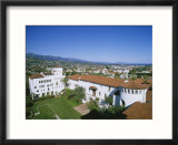 View Over Courthouse Towards the Ocean  Santa Barbara  California  USA