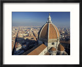 View from the Campanile of the Duomo (Cathedral) of Santa Maria Del Fiore  Florence  Tuscany  Italy