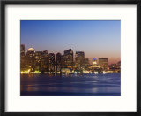 City Skyline at Dusk  Boston  Massachusetts  USA