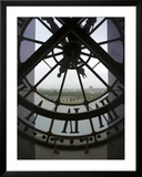 View Across Seine River Through Transparent Face of Clock in the Musee d&#39;Orsay  Paris  France