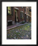 Acorn Street  Beacon Hill  Boston  Massachusetts  USA