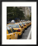 Taxi Cabs  Manhattan  New York City  New York  United States of America  North America