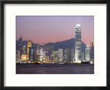 Skyline of Central  Hong Kong Island  at Dusk  Hong Kong  China  Asia