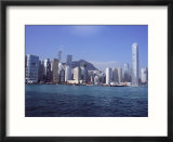 Hong Kong Island Skyline from Victoria Harbour  Hong Kong  China  Asia
