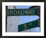 Broadway and 5th Avenue Street Signs  Manhattan  New York City  New York  USA