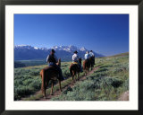 Horseback Riders at the Spring Creek Ranch near Grand Teton National Park