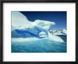 Blue Ice Stripe in Iceberg  Antarctic Peninsula