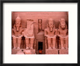 Temple Facade  Colossal figures of Ramses II  New Kingdom  Abu Simbel  Egypt