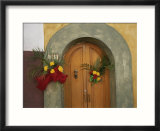 An Arched Doorway Adorned with Flowers