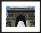 A Low Upward View of the Arc De Triomphe