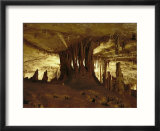 Underground view of limestone rock formations in one of the Lehman Caves