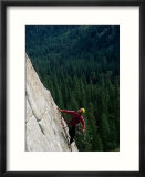 View of a climber on the face of El Capitan