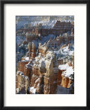 View of Bryce Canyon National Park in winter