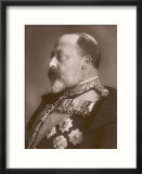 Edward VII British Royalty Head and Shoulders Profile of King