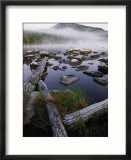Foggy Early Morning Shot of Pogy Pond in Baxter State Park  Maine