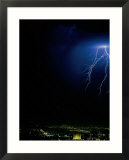 Lightning Storms Over the San Fernando Valley  Los Angeles  California  USA