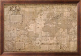 Map World-Antique Paper 1500's