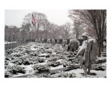 Korean War Memorial Snow Scene Photo