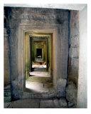 Hallway in Angkor Thom  Cambodia