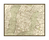 Sepia Map of NY