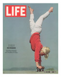 Girl Doing Handstand on Skateboard  May 14  1965
