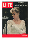 Actress and Princess of Monaco  Grace Kelly  April 9  1956