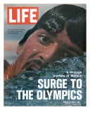 US Swimmer Mark Spitz Training for 1972 Munich Olympics  August 18  1972