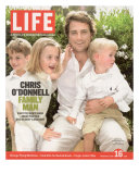 Portrait of Actor Chris O'Donnell and his Three Children at Home  June 16  2006