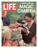 Polaroid's Edwin Land with New Instant Camera  October 27  1972
