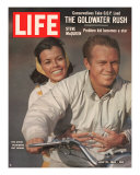 Actor Steve McQueen with Wife on Motorcycle  July 12  1963