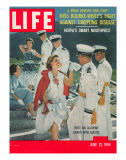 US Air Force Academy Cadets Greeting Guests after Graduation  June 22  1959