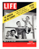 The American and his Economy  Family with Three Kids Taken  January 5  1953