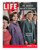 Victorious Young Kennedys  President-elect John Kennedy with Wife and Mother  November 21  1960