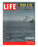 Rescue at Sea  Lifeboat Leaving Sinking Ship Andrea Doria  August 6  1956