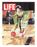 Special Issue: Japan  Woman in Kimono Bowling  September 11  1964