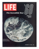 1968 Special Issue, NASA Shot of Earth from Space, Apollo 8 Mission, January 10, 1969 Photo premium