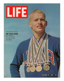 Don Schollander with his Four Olympic Gold Medals Won in Swimming Events  October 30  1964