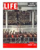 Eisenhower Among Masses During his Inauguration  February 2  1953