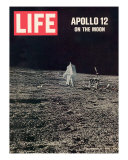 Apollo 12 on the Moon  Astronaut on the Moon  December 12  1969