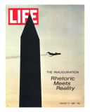 The Inauguration: Rhetoric Meets Reality  Washington Monument and Plane  January 31  1969