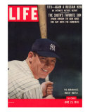 NY Yankee Slugger Mickey Mantle  June 25  1956